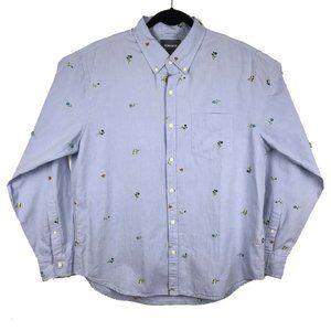 Bonobos Blue Floral Embroidered Standard Fit Shirt